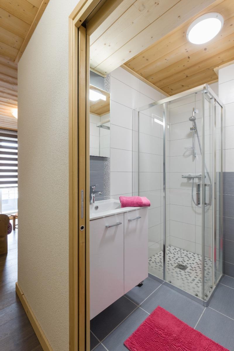 Salle d'eau avec WC - Location de vacances - Mijoux
