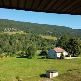 Vue panoramique et privilégiée depuis le salon - Location de vacances - Lélex