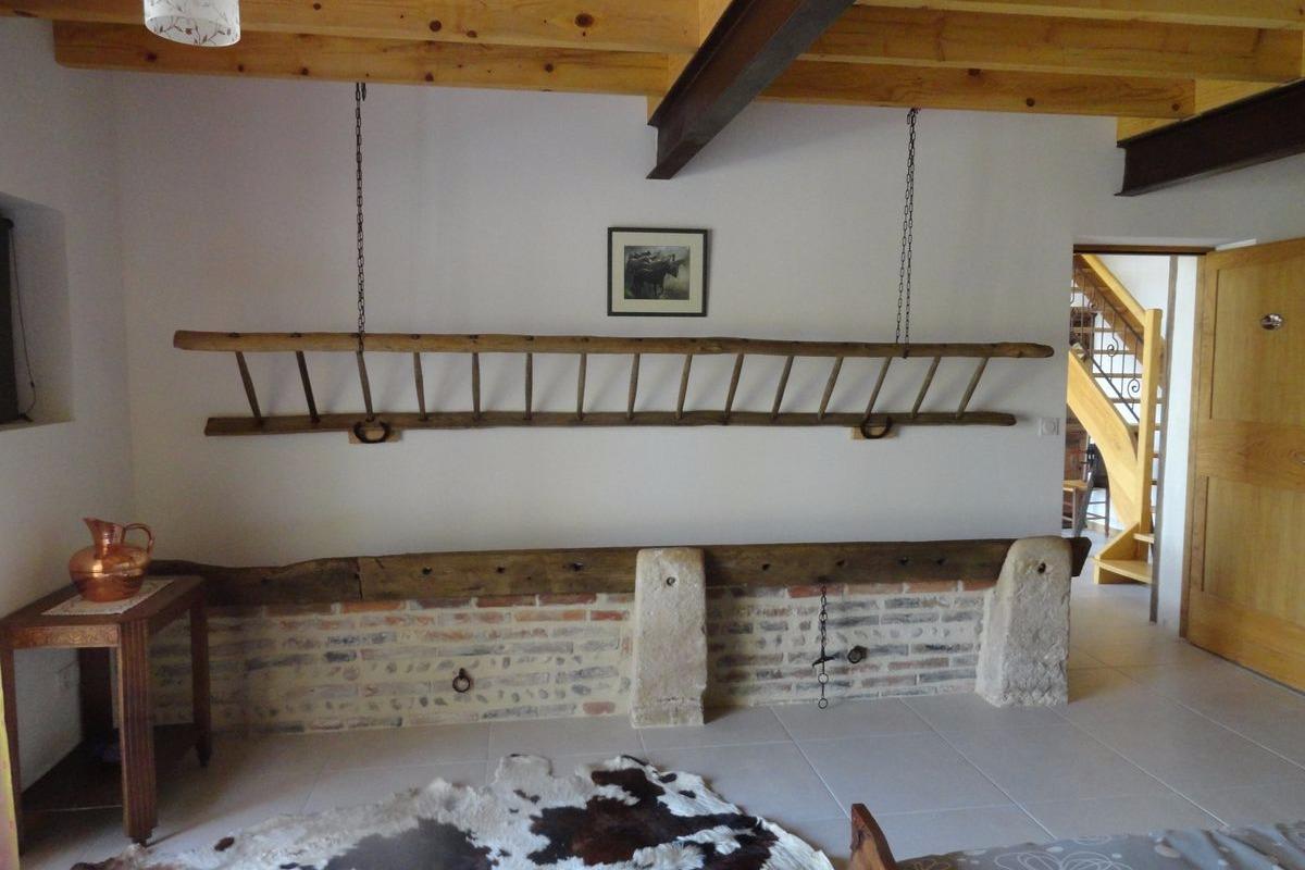 ferme passion chambre rez de jardin bugey chambres d 39 h te saint trivier sur moignans. Black Bedroom Furniture Sets. Home Design Ideas