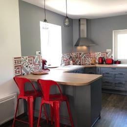Spacieux appartement aménagé avec charme, au cœur du village-Côté cuisine - Location de vacances - Lélex