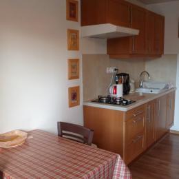 Le Clos Carré Petit Gîte Groseille séjour cuisine - Location de vacances - Saint-Maurice-de-Gourdans