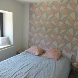 Les Violettes du Bugey - Chambre 2 avec lit 160x200 - Location de vacances - Marchamp