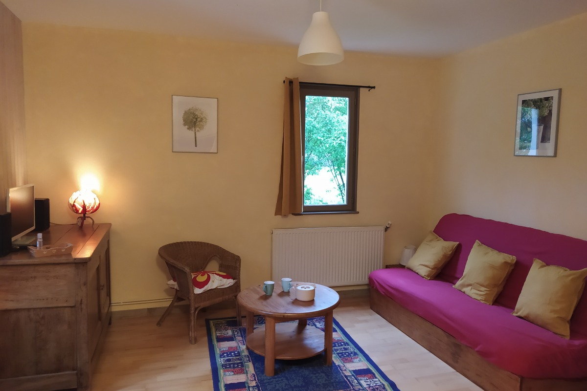 Salon/séjour - Location de vacances - Simandre-sur-Suran