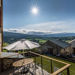 vue de la terrasse - Location de vacances - Haut Valromey