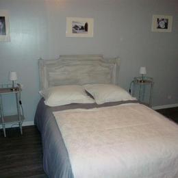 chambre grise - Location de vacances - La Villeneuve-au-Chêne