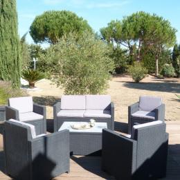 Salon de jardin et parc Chambre Marine Villamoustaussou - Chambre d'hôte - Villemoustaussou