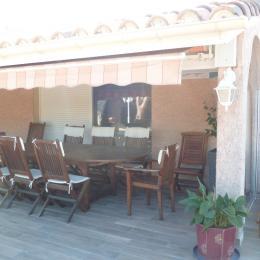 Terrasse Chambre Marine Villamoustaussou - Chambre d'hôte - Villemoustaussou
