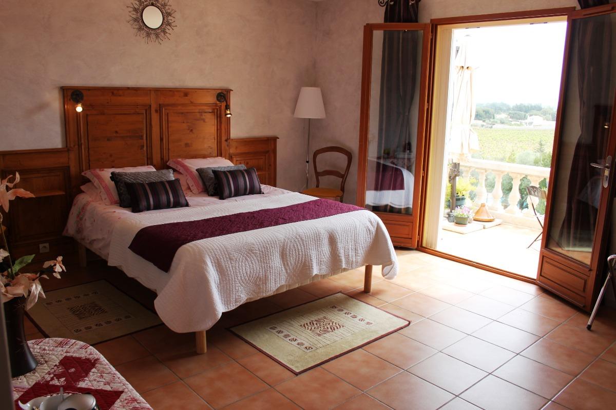 Chambre la Terrasse au 1er - Chambre d'hôtes - Cuxac-d'Aude