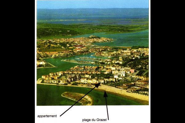 vue aérienne - Location de vacances - Gruissan Port