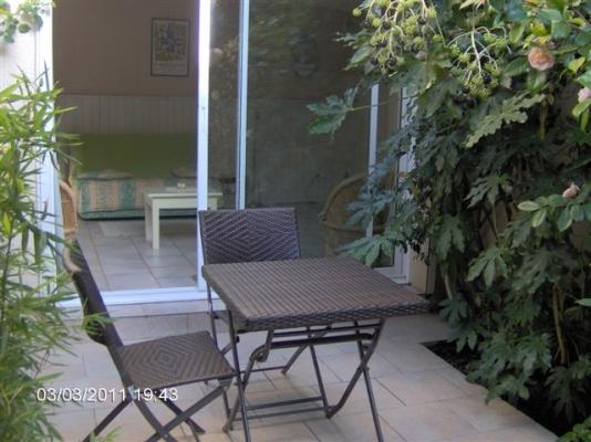 la terrasse en hiver - Location de vacances - Carcassonne