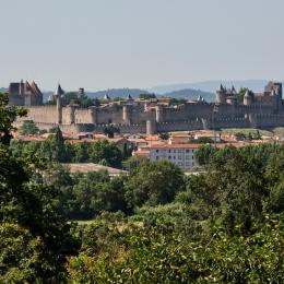 coté séjour - Location de vacances - Carcassonne
