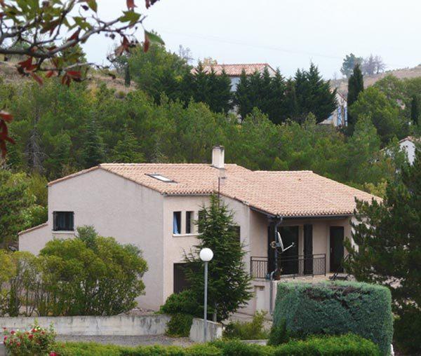 Minervois - Vue d'ensemble villa la Massalo - Location de vacances - Caunes-Minervois