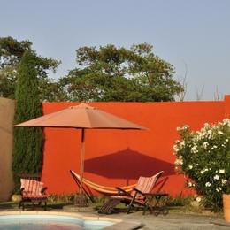 piscine haute en couleur - Location de vacances - Ferran