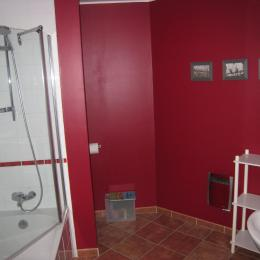 Salle de bain privée de la chambre Coquelicot - Chambre d'hôtes - Saint-Laurent-de-la-Cabrerisse
