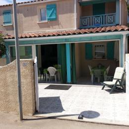 Cour et Véranda - Location de vacances - Gruissan Ayguades