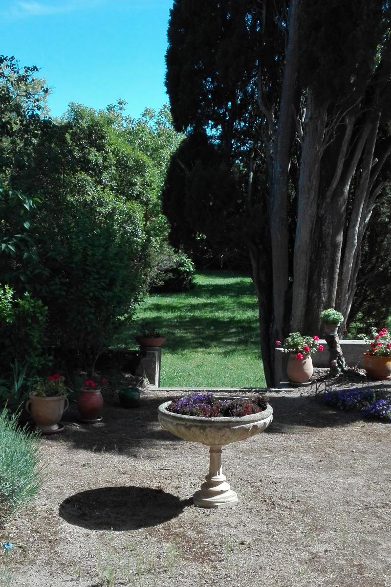 Sortie Terrasse, côté jardin. - Location de vacances - Carcassonne
