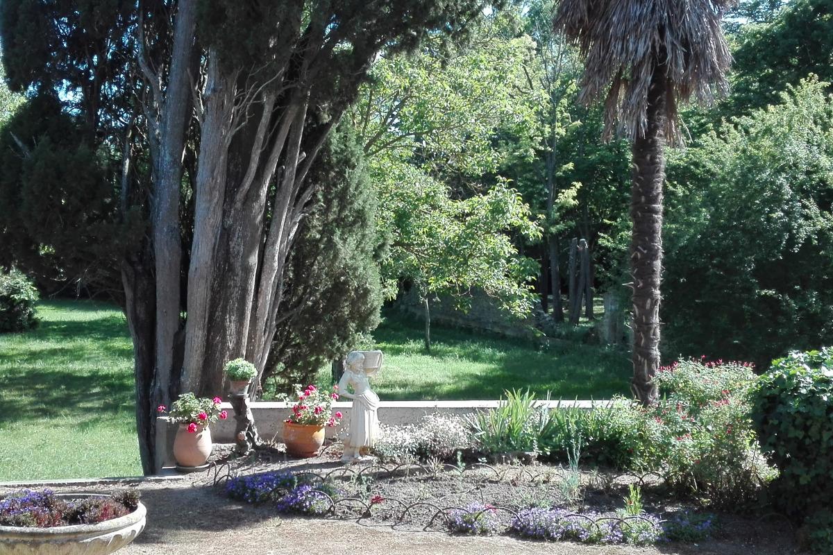 Sortie sur  la Terrasse, côté jardin - Location de vacances - Carcassonne