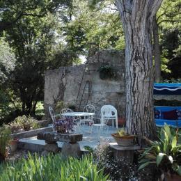 Salon de jardin, sur la terrasse. - Location de vacances - Carcassonne