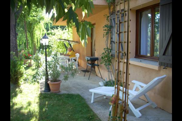 Terrasse coté sud - Location de vacances - Millau