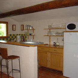 Le Mazet maison provençale indépendante 70 m2 , la Destrousse, piscine cuisine américaine - Location de vacances - La Destrousse