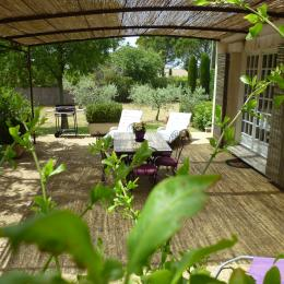 Terrasse ombragée en été - Location de vacances - Saint-Rémy-de-Provence