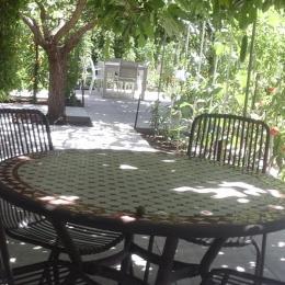 la location et sa terrasse ombragée - Location de vacances - Marseille