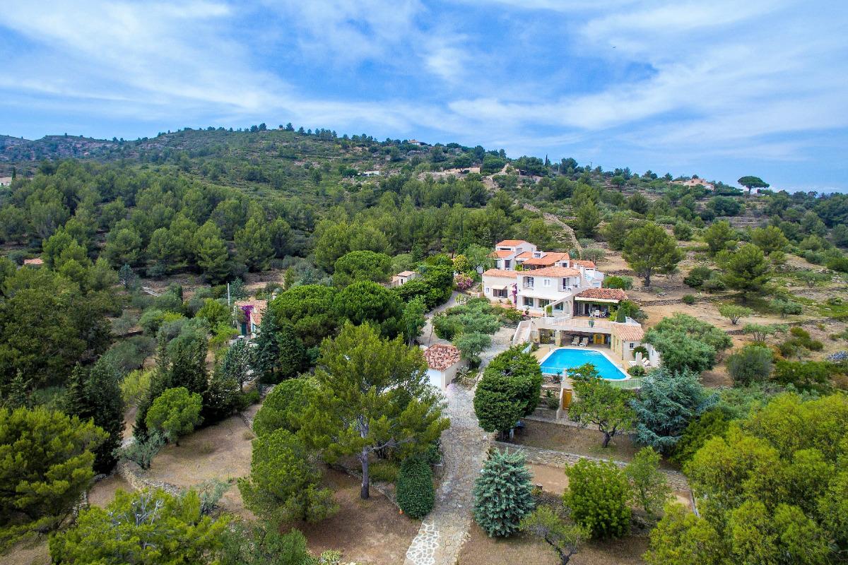 l'Escapade  maison indépendante 91 m2 vue mer 180° avec piscine piscine 9 x 12 avec vue panoramique sur la mer la Ciotat - Location de vacances - La Ciotat