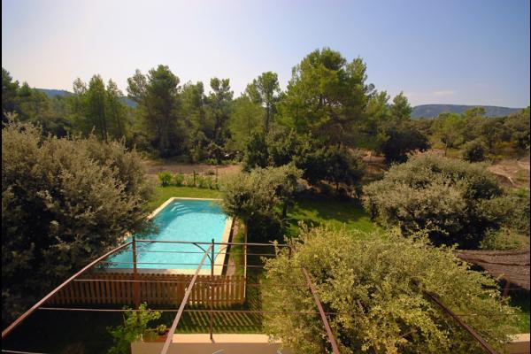 vue de l'étage - Location de vacances - Eygalières