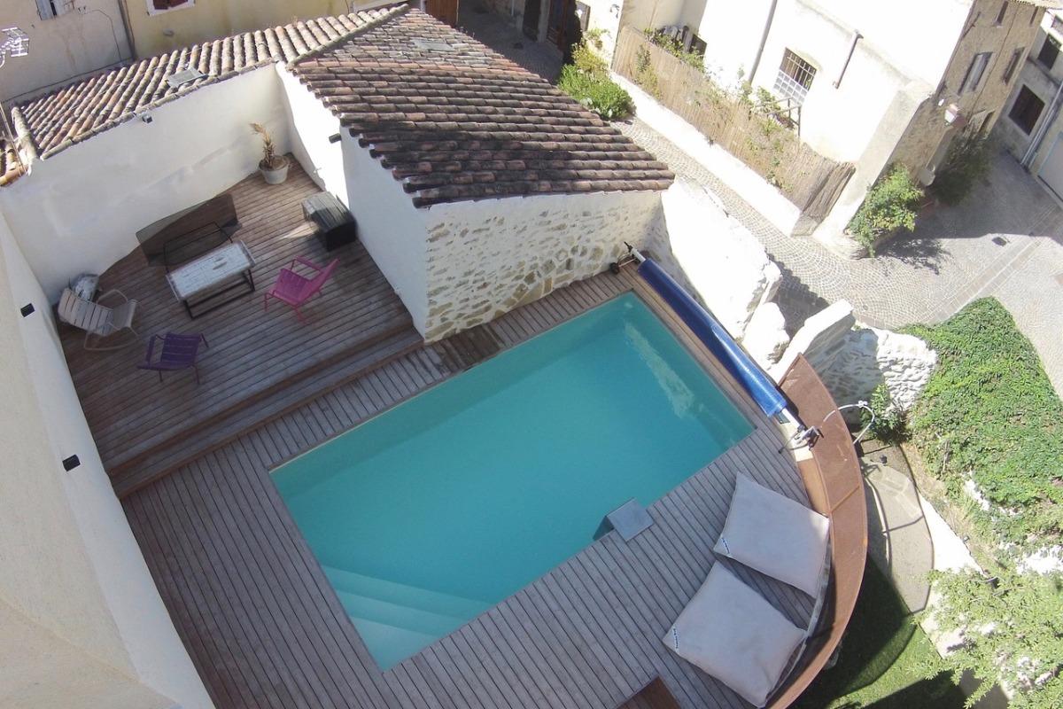 Jardin et piscine - Location de vacances - Pélissanne