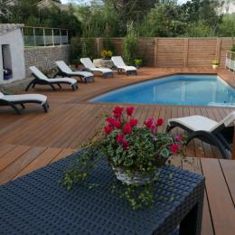la piscine privée et sa terrasse - Location de vacances - Auriol