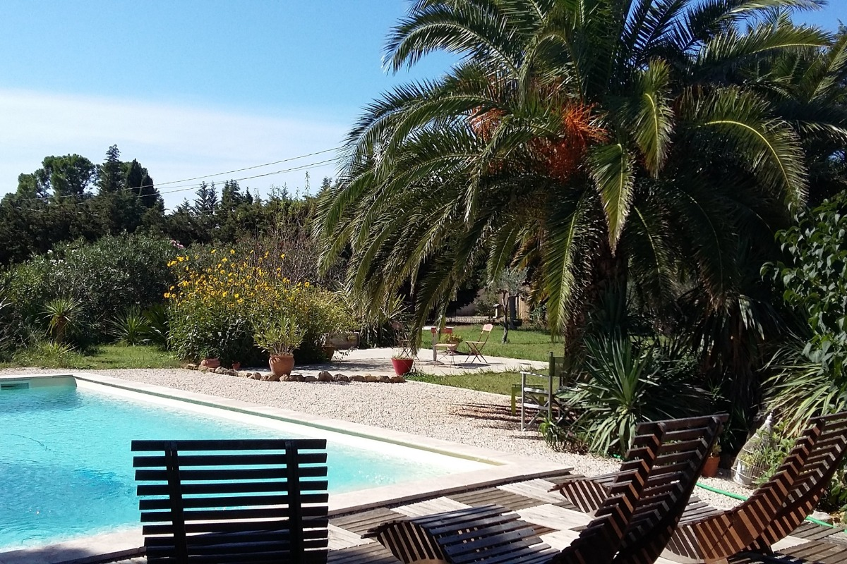Piscine 4 x 8, fond plat, prof. 140 - Location de vacances - Arles