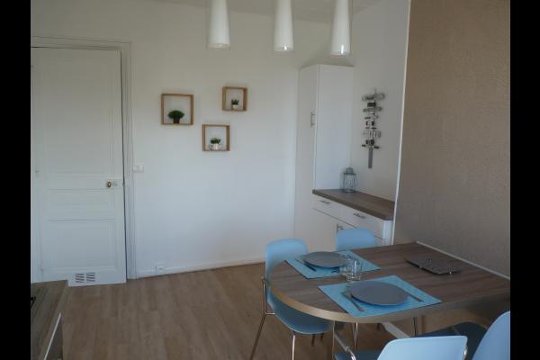La cuisine de l'appartement Bellevue - Location de vacances - Villers-sur-Mer