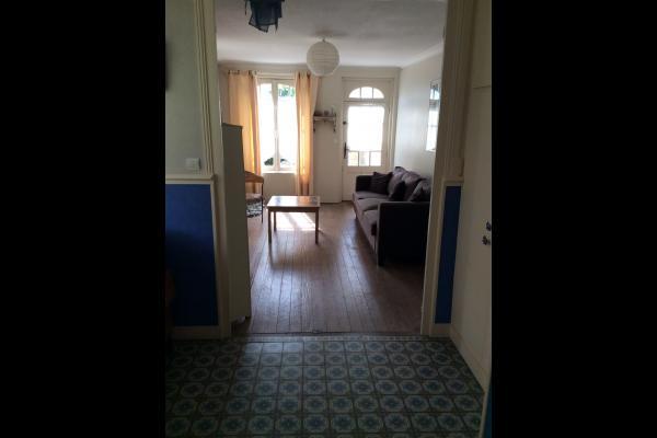 salon et patio - Location de vacances - Saint-Aubin-sur-Mer