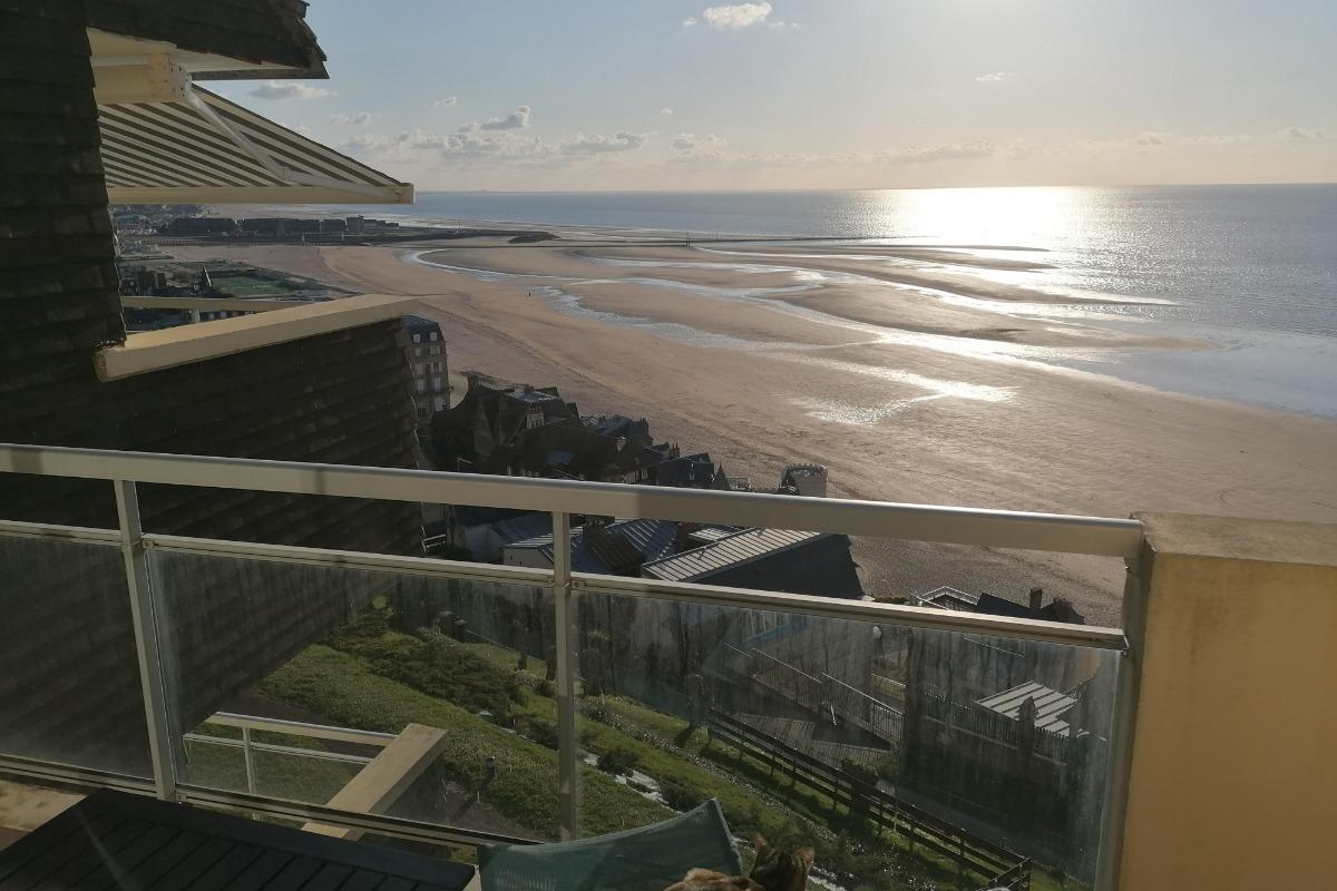 Vue du balcon-terrasse - Location de vacances - Trouville-sur-Mer