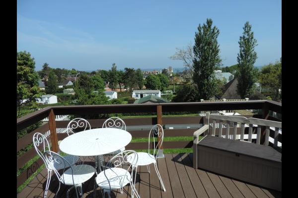 terrasse vue sur mer - Location de vacances - Arromanches-les-Bains