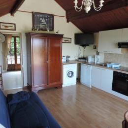 salon coin cuisine - Location de vacances - Arromanches-les-Bains