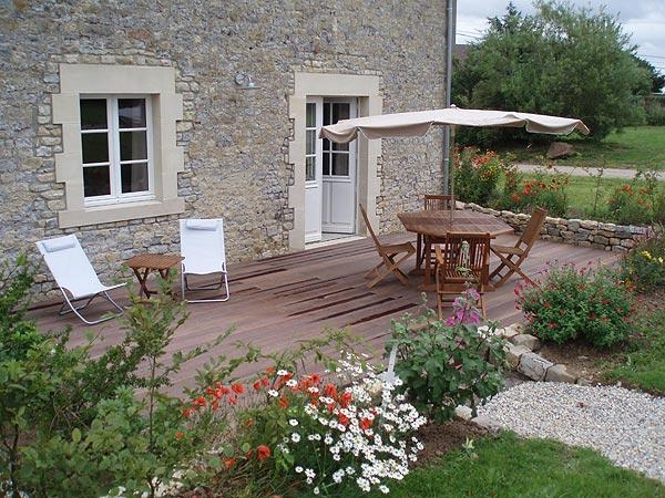 Terrasse Etable - Location de vacances - Crouay