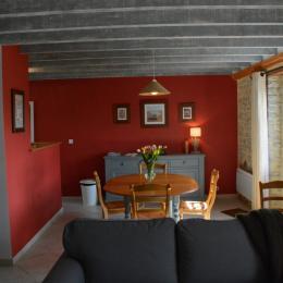 Pièce principale Etable - Location de vacances - Crouay
