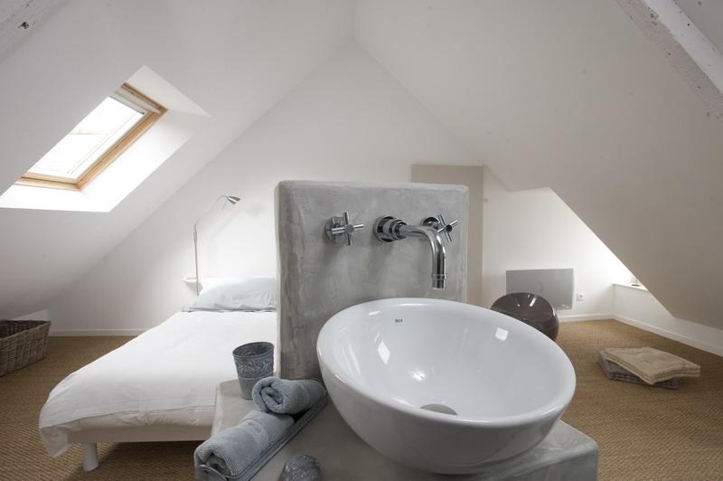 Emejing Chambre Avec Salle De Bain Et Toilette Contemporary - House ...