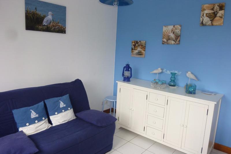 coin salon - Location de vacances - Sainte-Honorine-des-Pertes