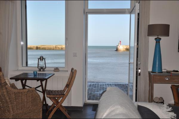 Vue du salon salle à manger - Location de vacances - Port-en-Bessin-Huppain