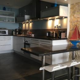 La cuisine surélevée, vue mer **** - Location de vacances - Port-en-Bessin-Huppain