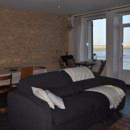 Salon , salle à manger - Location de vacances - Port-en-Bessin-Huppain