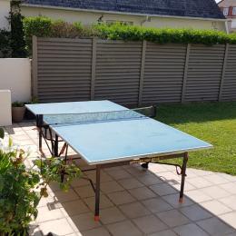Table de Ping Pong côté Jardin - Location de vacances - Luc-sur-Mer