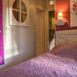 chambre violette - Location de vacances - Pierrefitte-en-Auge