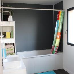 Salle de bain étage - Location de vacances - Hermanville-sur-Mer