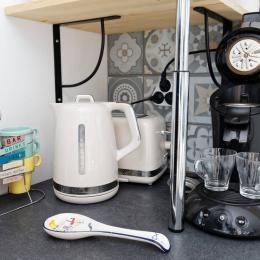 Vous trouverez également tout l'équipement pour votre petit déjeuner - Location de vacances - Honfleur