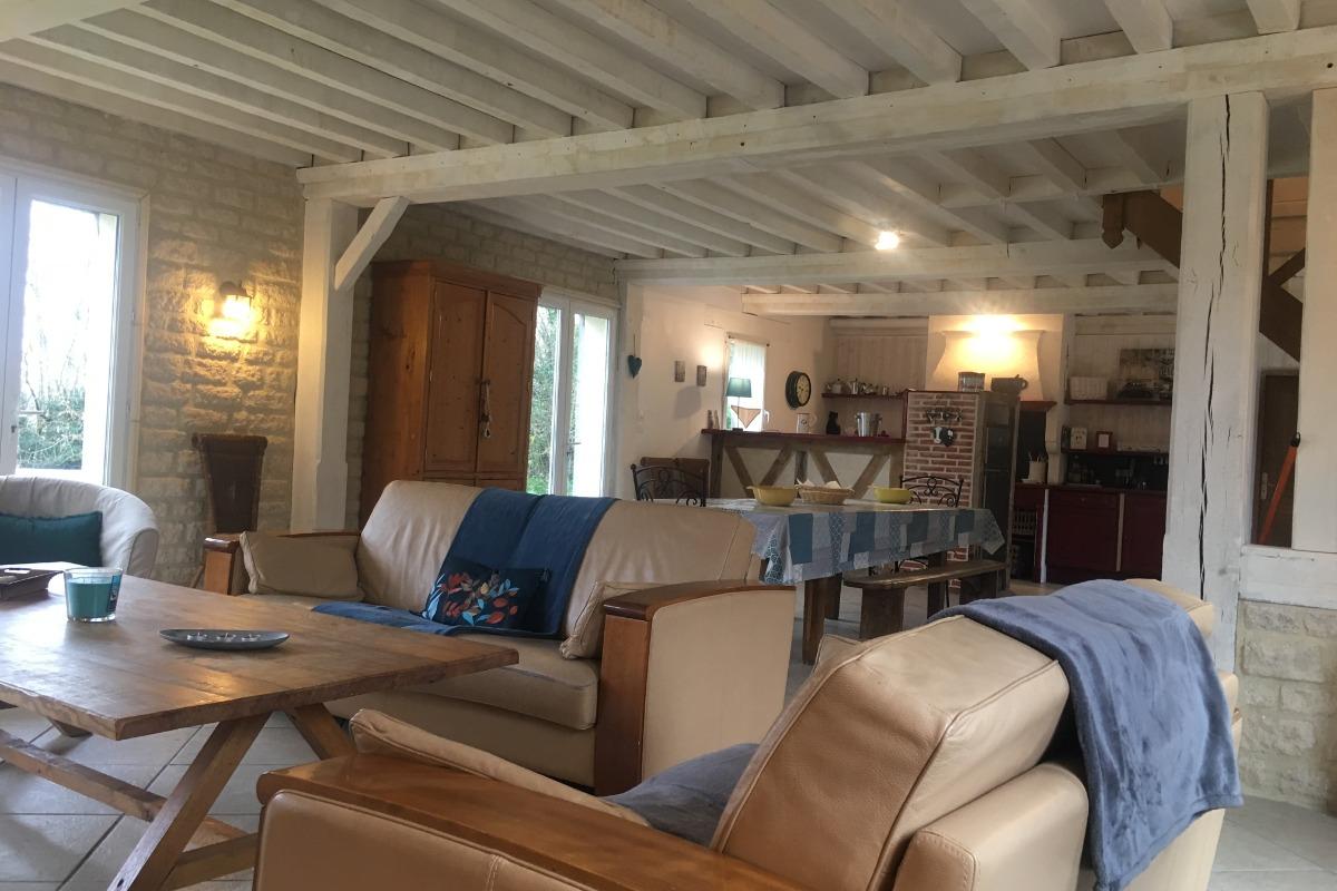 le salon - Location de vacances - Cricqueville-en-Auge