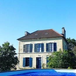 Façade plein Sud et piscine hors sol 8x4 m - Location de vacances - Percy-en-Auge