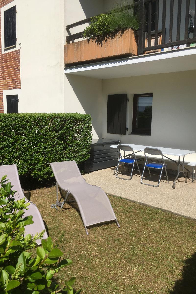 terrasse jardin - Location de vacances - Cabourg